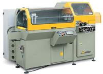 Automatica large structural aluminum saw cutting with pneumatic or hydraulic feed