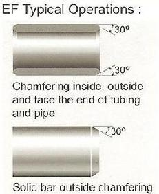 Chamfering inside,outside and face the end of tubing and pipe, solid bar outside chamfering