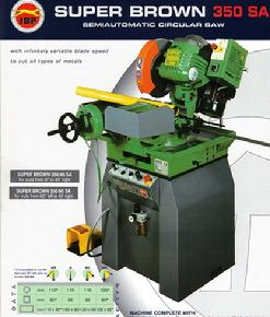"350mm - 14"" HSS Cold Saw Machine, Semi Auto Operation with Variable Speed Drive Super Brown 350"