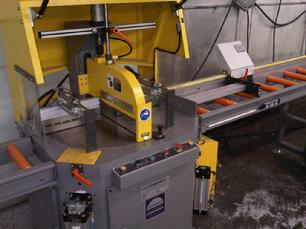 PMI Upcut aluminum extrusion saw with digital length stop