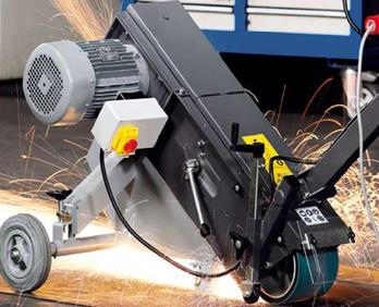 GIM grinding module is the perfect solution when the work cannot be brought to the grinder. The solution, bring the grinder to the work surface.