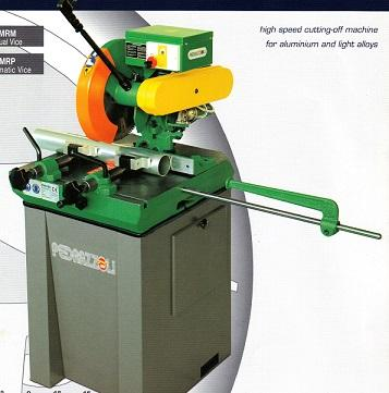 Perris 350 Manual Operated Aluminum Saw, Compound Miter Aluminum Saw, Pneumatic Clamping Available