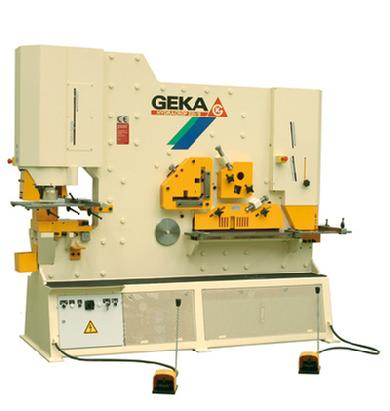 240 Tons of punching power, 300 Tons of shearing power, Geka Hydracrop 220 Ironworker