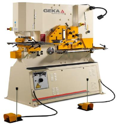 120 Ton punching power Geka Ironworker