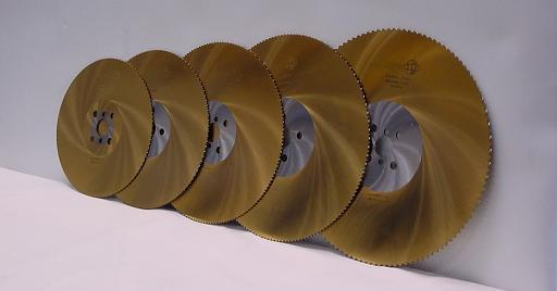 "Tin coated coldsaw blades available from 250mm(10"") to 370mm(14.5"")"
