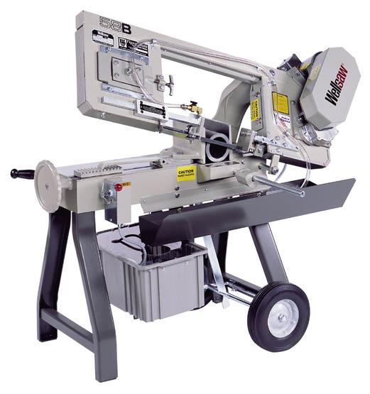 The MODEL 58B METAL CUTTING BAND SAW is designed for efficient performance. Our largest portable saw, the 58B offers the flexibility of both horizontal and vertical sawing plus it is completely portable.    Choose either Wet cutting or Dry cutting models.