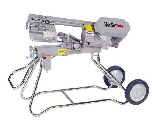 Portable, versatile and strong for service in the field. Sawing in either horizontal or vertical positions Wellsaw 57 bandsaw