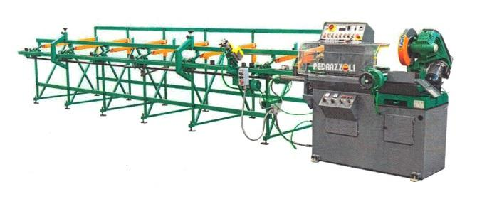 Automatic Cold Saw machine with incline material bundle loading table 6 meters length