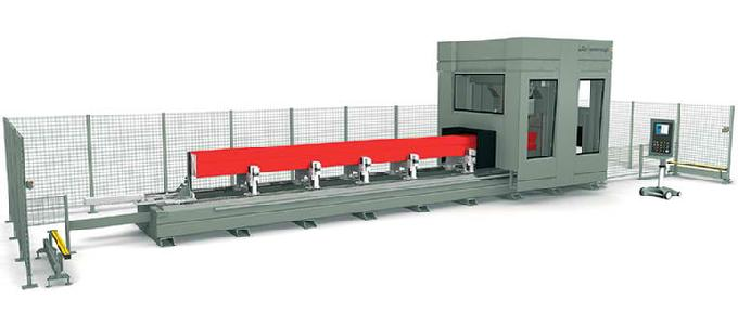 CNC machining center with varying length up to 15 meters