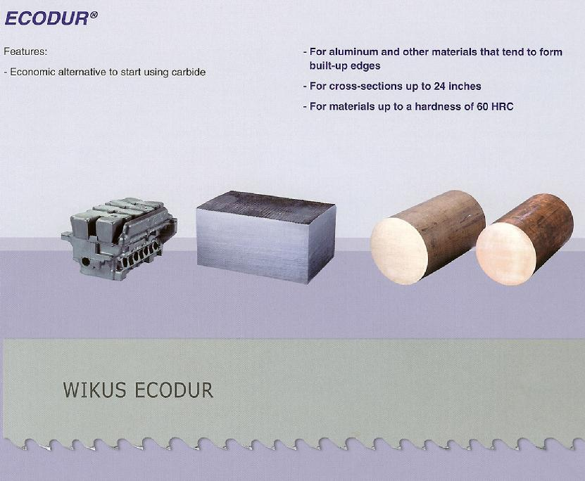 ecodur carbide tipped bandsaw